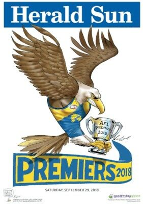2018 West Coast Eagles LIMITED EDITION Premiership Poster Herald Sun Mark Knight