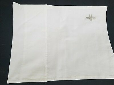 """4 Vintage American Airlines First Class Pillow Cases Embroidered 14""""×17"""" Pillow"""