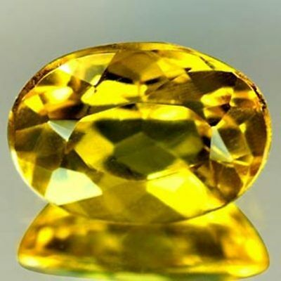 Aaa Natural Beryl Heliodor Ct 0.92 Golden Yellow Color  Oval Cut Origin Brazil