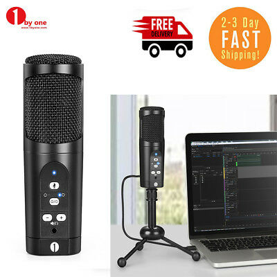 Professional USB Condenser Microphone Audio for Mac PC Speech with Tripod Stand