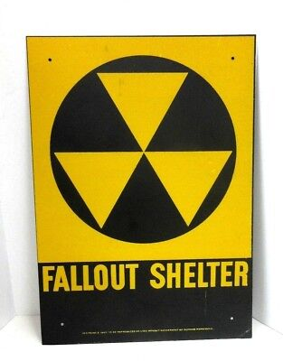 """Fallout Shelter Sign Department of Defense DOD FS No. 2 Metal 10""""x14"""""""