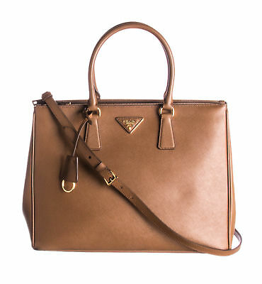 7313435bebb0 AUTHENTIC PRADA SAFFIANO Small Lux Galleria Double-Zip Tote Bag ...