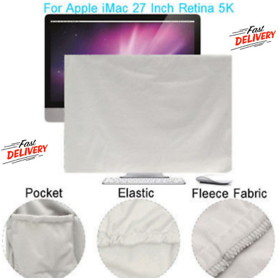 Cover For Apple iMac - Screen Monitor Protector Guard w/ Pocket For Accessories
