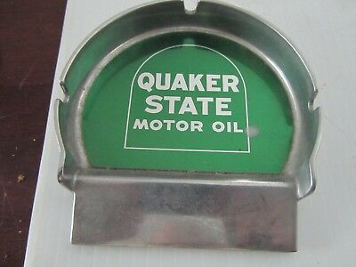 quaker state motor oil Putting Cup Metal Ashtray by  Nelson Name Plate Company