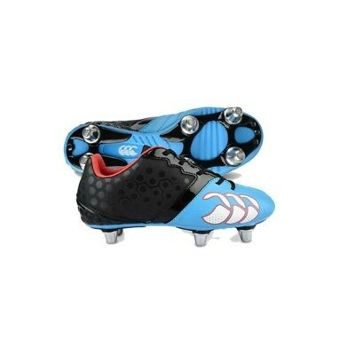 Canterbury Phoenix Club 6 Stud, Boys Rugby Boots, Black, 3 UK