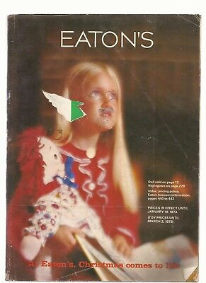 Eaton's Christmas 1972 Catalog in VG condition 444 pages