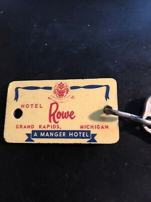 Vintage Hotel Rowe Key and Fob Grand Rapids, Michigan Room 340