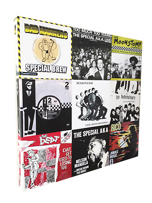 "Ska collage 20"" x 20"" canvas print on 38mm frame"