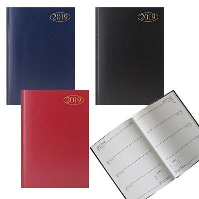 New 2019 A4/A5/A6 Diary Day A Page,Week to View, Appointment Desk Hardback
