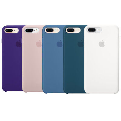 Apple Custodia Cover Per Iphone 7 8 Plus 5,5'' Silicone Case Originale