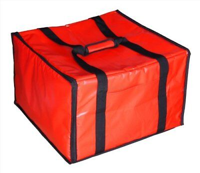 Extra Large Red Insulated Pizza Restaurant Food Delivery Heat Bag - Fits 6 Boxes
