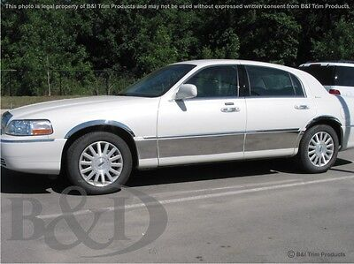 Lincoln Town Car Chrome Rocker Panels.  Fits 1998-2012 8.25 Inches Wide 8 Pcs