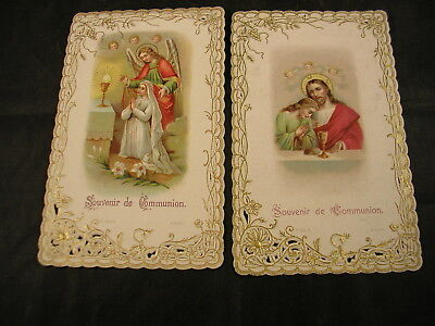 2 canivets, anciennes images pieuses, 1914 , lot 5