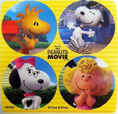 73994f2da37cf0 Peanuts Movie Stickers Charlie Brown Snoopy Linus Sally Sister Belle Party  Favor