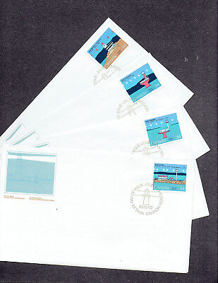 Canada FDC - 1985 - Canadian Lighthouses, Scott #'s 1063-66, 4 FDCs