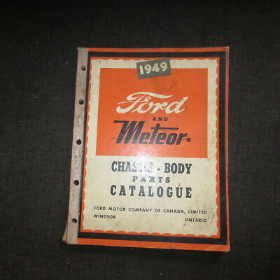 1949 Ford and Meteor chassis-body parts catalog catalouge Canadian market
