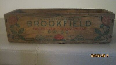 Vintage Wood Swiss Cheese Box/ Brookfield/ 5 lb.