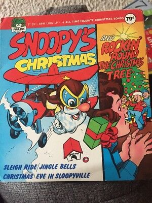 peter pan records xmas songs snoopys christmas 7 and chipmunk song 33rpm - Snoopy Christmas Song