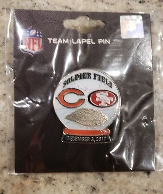San Francisco 49ers VS Chicago Bears 12/3/17 NEW GAME DAY PIN Free Shipping