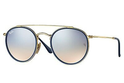 Gafas de Sol Ray-Ban RB3647N Round Doble bridge Silver Gradient nuevas  Original 6904332991