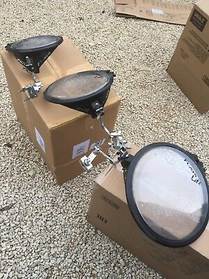 """Free P&P. Arbiter Flats Toms w Clamps. 10"""" 12"""" 14"""". Great for Busking. T8100110"""