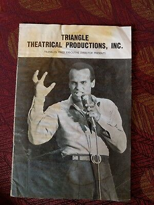 Harry Belafonte-Triangle Theatrical Productions- Music Concert program 1968-1969