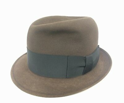 b8acaa542a Men s Resistol 880 Krushable Self-Conforming Brown Fedora Beaver xxx Size 7  1 8