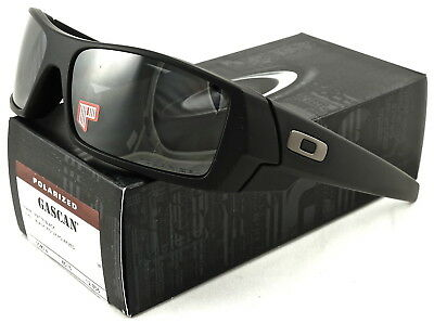 e767ce381a2 NEW Oakley Gascan Sunglasses Matte Black l Black Iridium Polarized 12-856