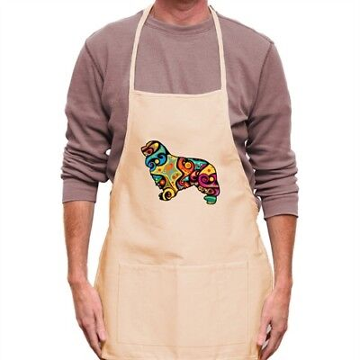 Psychedelic Cavalier King Charles Spaniel Apron