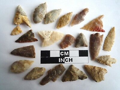 20 x Neolithic Arrowheads - Genuine Saharan Flint Artifacts - 4000BC (2044)