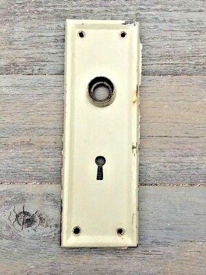 Vintage Art Nouveau STAMPED BRASS DOOR KNOB BACK PLATE