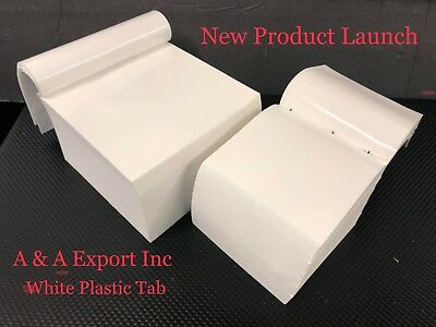 Free Shipping - On Sale Now - 3x3 White Plastic Tabs 1,000 cts - A&A Export Inc