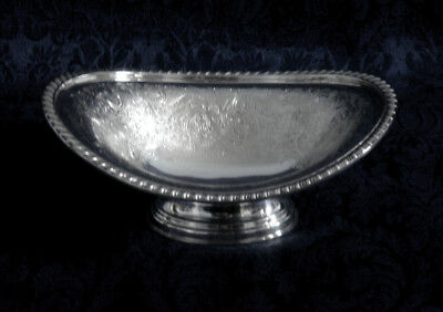 "Vintage Barker Ellis Silver Plate Footed Oval Bowl(S) 7"" Made In England"