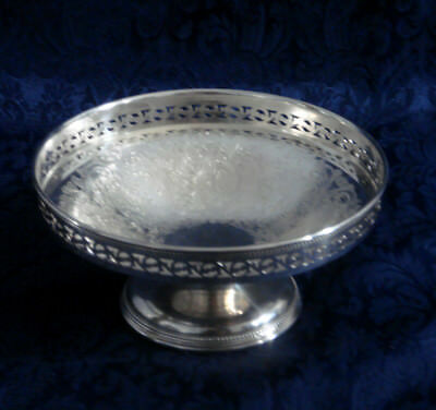 "Vintage Barker Ellis Silver Plate Footed Round Bowl Menorah Mark 6 1/4"" England"