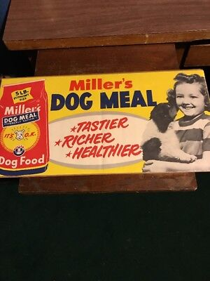 1950's Dog Food Sign Original Advertising
