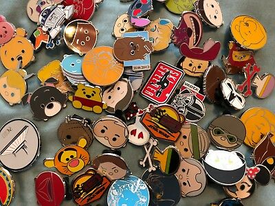 lot of 10 REAL disney trading pins NO FAKES all from new booster or mystery set