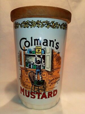 Vintage 70's Colman's Mustard Pottery Jar Storage- Lord Nelson Ware-Hand Crafted