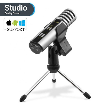 Studio Recording Microphone, Condenser with Built-in Sound Card and Echo Effect