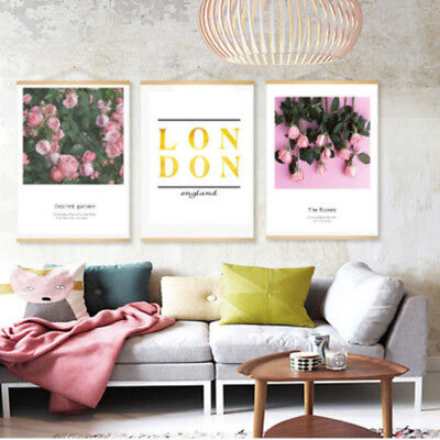 Letter Rose Printed Painting Poster Home Decor Hanging Bedroom Ornament 1 Pc