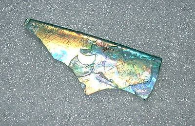 ancient roman glass fragment with  amazing colors.very rare....