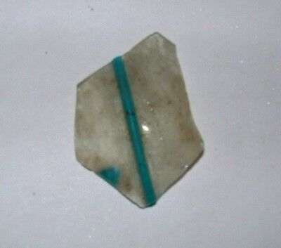 ancient roman glass fragment with very nice design