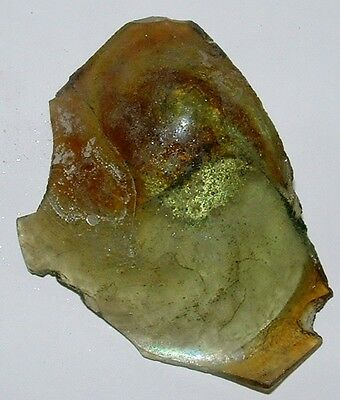 ancient roman glass fragment with  nice patina amazing. very nice color