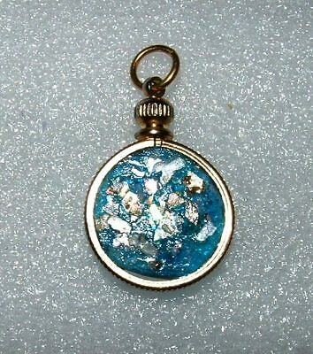 ancient roman glass fragment with very lovely patina pendant 5,6