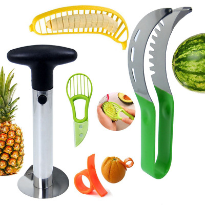 Fruit Slicer Set for Watermelon PineCorer Banana Avocado Slicer Orange Peeler US