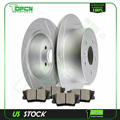 For Toyota Avalon Camry Lexus ES300h ES350 Rear Brake Rotors And Ceramic Pads