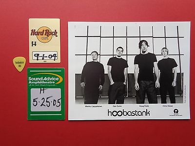 HOOBASTANK,promo photo,2 Backstage passes,Guitar pick, Originals