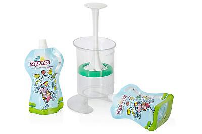 Fill N Squeeze Weaning And Feeding Pouch Filling System With Reusable Pouches