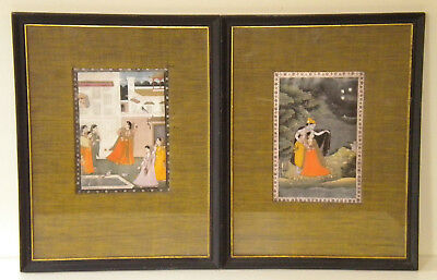 Pair of Framed Prints of Antique Persian Book Illustrations