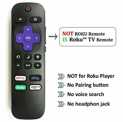 New Remote for Hisense ROKU TV w/ Volume Control and TV Power Button