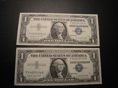 (1) $1.00 Series 1957-A Silver Certificate AU Circulated Condition